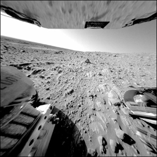 Image of the Martian surface, taken by the Mars Rover.
