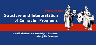 Cover of the textbook, Structure and Interpretation of Computer Programs.