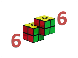 The 6.006 course logo, with a 2x2x2 Rubik's Cube in place of each zero.