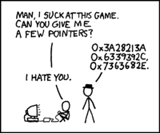 An xkcd comic about pointers.