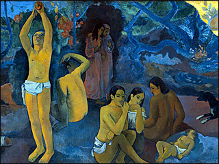 Image of painting by Paul Gauguin, Where Do We Come From? What Are We? Where Are We Going?
